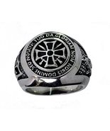 KNIGHTS TEMPLAR SOLDIERS OF CHRIST RING Sterling silver Jewelry Mason Ma... - $79.19