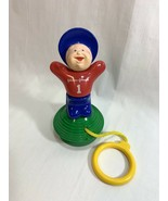 Vtg 1977 Johnson & Johnson Baby Toy Suction Cup Stand Up Pull String Pla... - $24.74