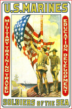 Marines, Military Training, American Flag, Soldiers, Recruitment, soldie... - $12.49
