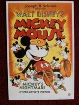 Mickey Mouse MICKEY'S NIGHTMARE 1932 Movie Poster Print The Walt Disney ... - $12.00