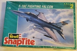Revell SnapTite F-16C Fighting Falcon Model Skill 2 1:48 New and Sealed #6297 - $28.04