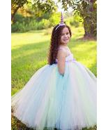 Unicorn Tutu Dress, Pastel Tutu Dress, Pastel Rainbow Flower Girl Dress - $50.00+
