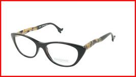 Face A Face Eyeglasses Frame BOCCA SEXY 1 Col. 100 Acetate Black Safari Turquois - $316.62