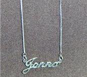 Sterling Silver Name Necklace - Name Plate - JENNA