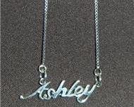 Sterling Silver Name Necklace - Name Plate - ASHLEY
