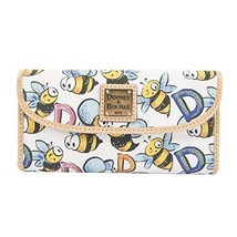 Dooney & Bourke Bumble Bee Coated Canvas and Leather Large Trifold Wallet