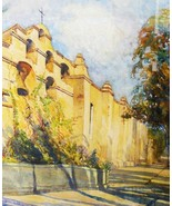 Impressionist Watercolor California Landscape S... - $400.00