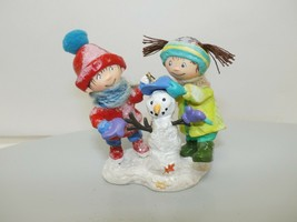 "Hallmark 2008 ""First Snowman of the Year"" Kids Building Snowman Ornament - $9.89"