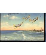 US NAVY BOMBERS over Jacksonville FL.Linen 3.315 - $6.00