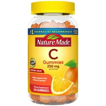 Nature Made Vitamin C 250 mg Gummies, 120 Count to Help Support Immune S... - $16.82