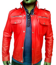 Handmade New Men Bomber Slim Fit Leather Jacket, Men leather jacket, Lea... - $139.00