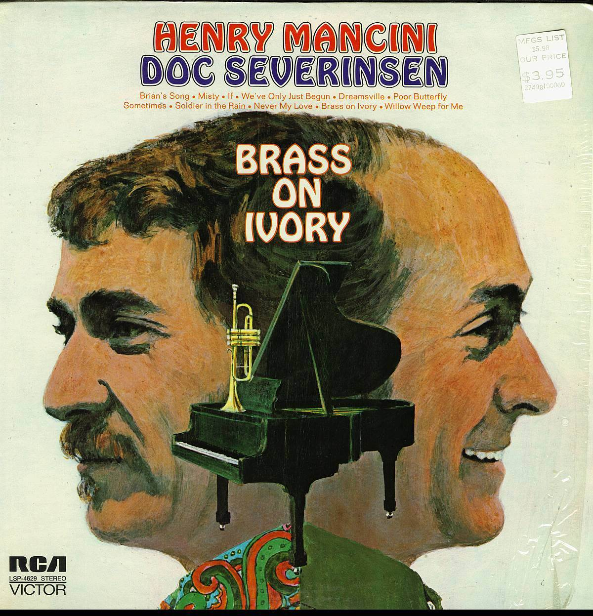 HENRY MANCINI DOC SEVERINSEN BRASS ON IVORY LP RCA LSP-4629 ST