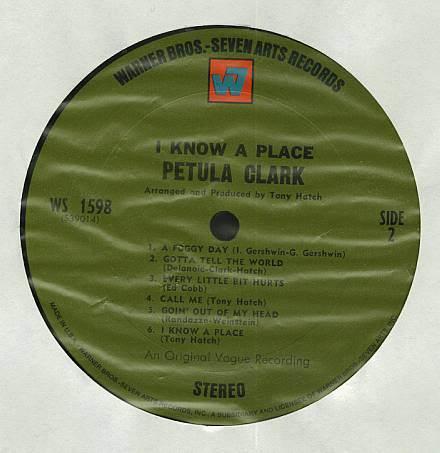 PETULA CLARK I KNOW A PLACE LP WD 1598  RARE