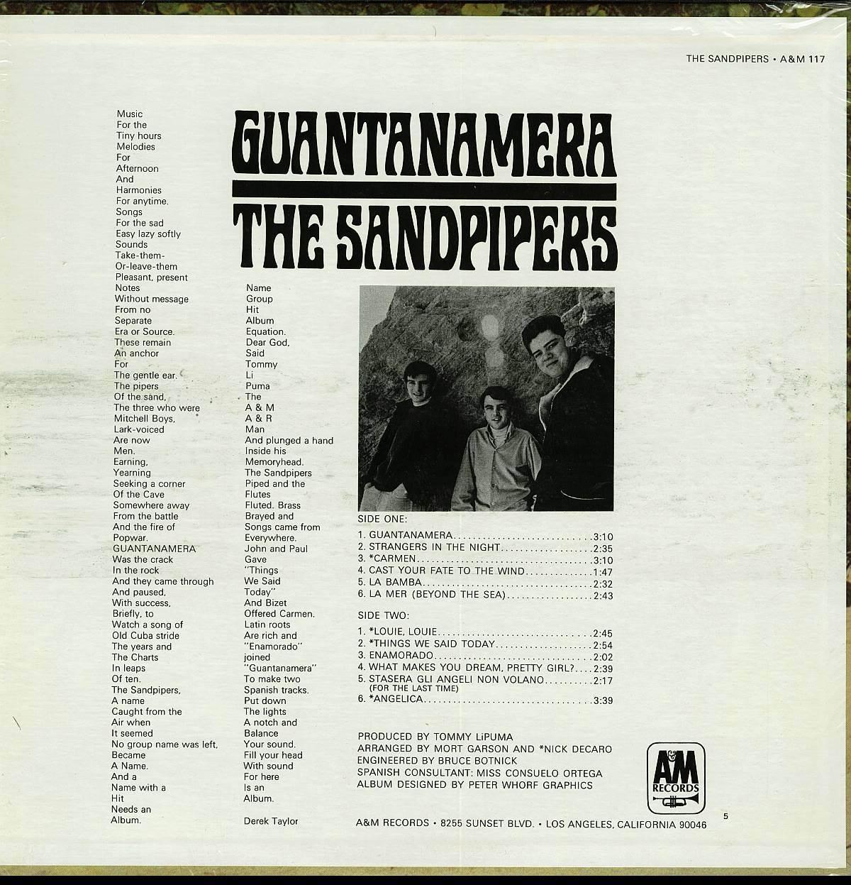 SANDPIPERS GUANTANAMERA LP SP 4117 STEREO RARE