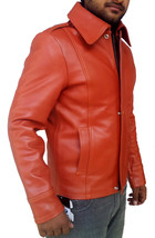 Handmade New Men Stylish Slim Fit Brown Leather Jacket, Men leather jack... - $139.00