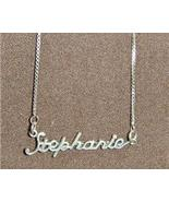 Sterling Silver Name Necklace - Name Plate - STEPHANIE - $54.00