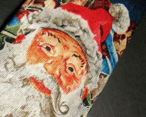 Ralph Marlin RM Holidays Neck Tie Santas Midnight Ride 1999