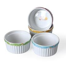 Cinf Porcelain 6 oz. Ramekins Baking Cup Bowls Dishes, Set of 4 … - £12.23 GBP
