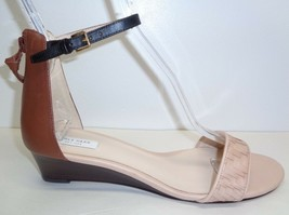 Cole Haan Size 8.5 M GENEVIEVE WEAVE Tan Leather Wedge Sandals New Women... - $117.81