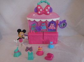 Disney Minnie Mouse Sparkle 'N Spin Fashion Bow-Tique Playset Fisher-Price - $18.02