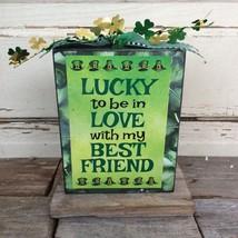 AGD Saint Patrick's Decor  – Lucky Love Friend Box Sign - $14.95