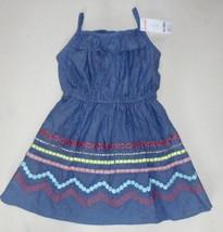 Gymboree Girls Chambray Embroidered Dress Size 5 NWT - $15.99