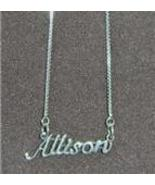 Sterling Silver Name Necklace - Name Plate - ALLISON - $54.00