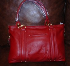 Steven by Steve Madden Leather Metro Tote *Paprika* - $109.95