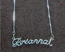 Sterling Silver Name Necklace - Name Plate - BRIANNA - $54.00