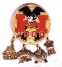 Disney Mickey Mouse 2000 Gold 4 Park (Dangle) pin/pin - $18.59