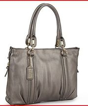 Steve Madden Leather Metro Tote *Pewter*  - $109.95