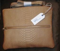 Gigi New York Leather Embossed Python Cross Body  - $99.95