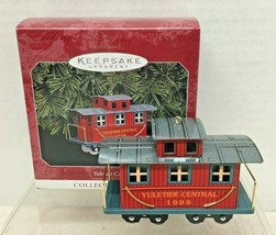 1998 Yuletide Central #5 Caboose Hallmark Christmas Tree Ornament MIB Tag - $14.36