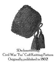 1862 Antebellum Civil War Cuffs Pattern Crochet Wristers DIY Victorian Reenactor - $5.99