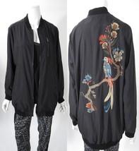Nanette Lepore Bird Embroidered Black Bomber Jacket Sz S M  NWT MSRP $115 - $49.99