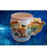 Vintage WHISTLE FOR YOU MILK Mug Cup BIRDS Childs BABY Children Collector - $49.95