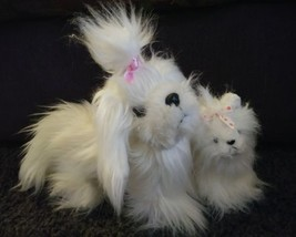 Pet Dog and Baby White Hairy Fluffy Stuffed Animals Kids Toys LIL KINZ YORKIE - $23.58