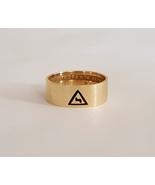 14k Yellow Gold Mens Masonic Ring junxit mors non separabit Sz 11 Vintag... - $250.00