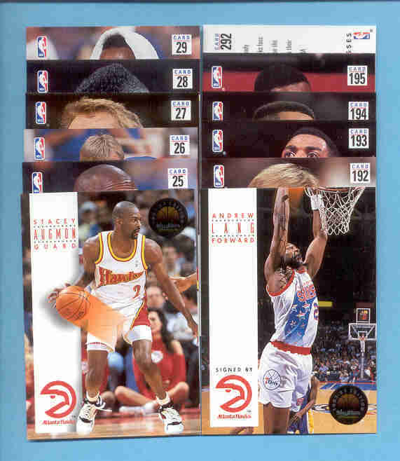 1993/94 SkyBox Atlanta Hawks Basketball Team Set