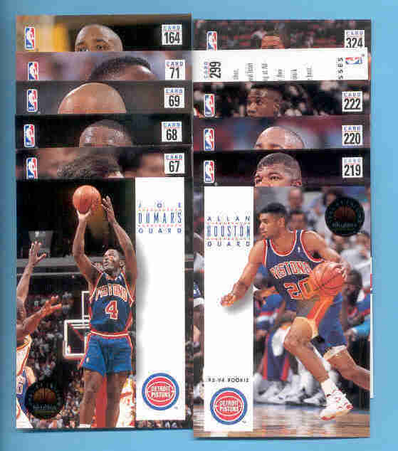 1993/94 Skybox Detroit Pistons Basketball Set