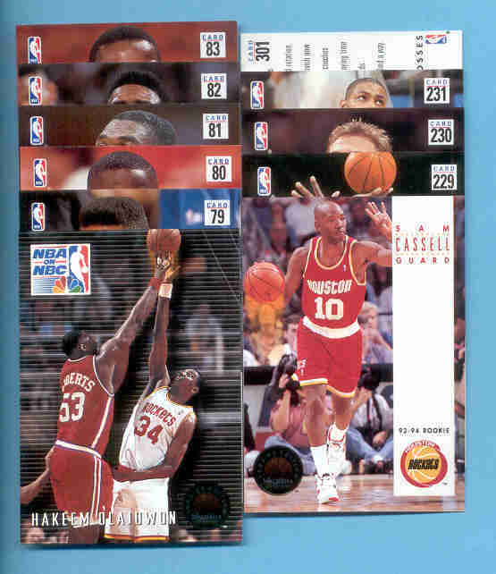 1993/94 Skybox Houston Rockets Basketball Team Set