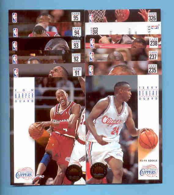 1993/94 Skybox Los Angeles Clippers Basketball Team Set