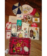Junk Drawer Lot Hats Christmas Halloween Cards Disney Piedmont Air Line ... - $12.99