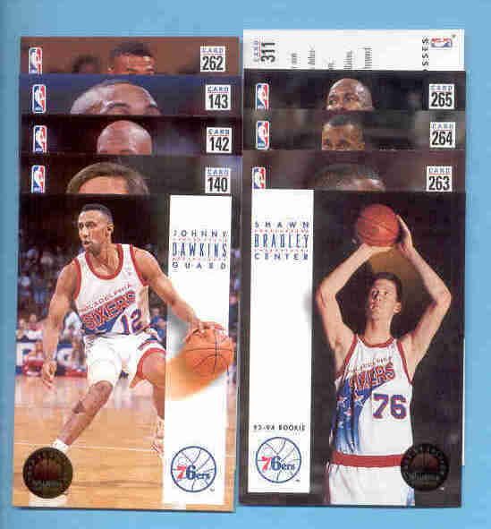 1993/94 Skybox Philadelphia 76ers Basketball Team Set