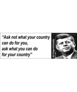 JFK Kennedy Quote Bookmark - $2.50