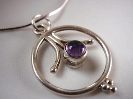 Purple AMETHYST 925 Sterling Silver Necklace Corona Sun Jewelry - $15.83