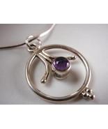 Purple AMETHYST 925 Sterling Silver Necklace Corona Sun Jewelry - $15.83