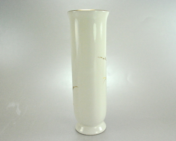 Otagiri Bird in Willows Ivory Bud Vase Gold Trim