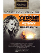 YVONNE STRAHOVSKI @ GALLERY Nightclub Las Vegas Promo  Card - $1.95
