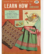 Learn How to Embroider Coats & Clarks Book No 144 Vintage - $8.50